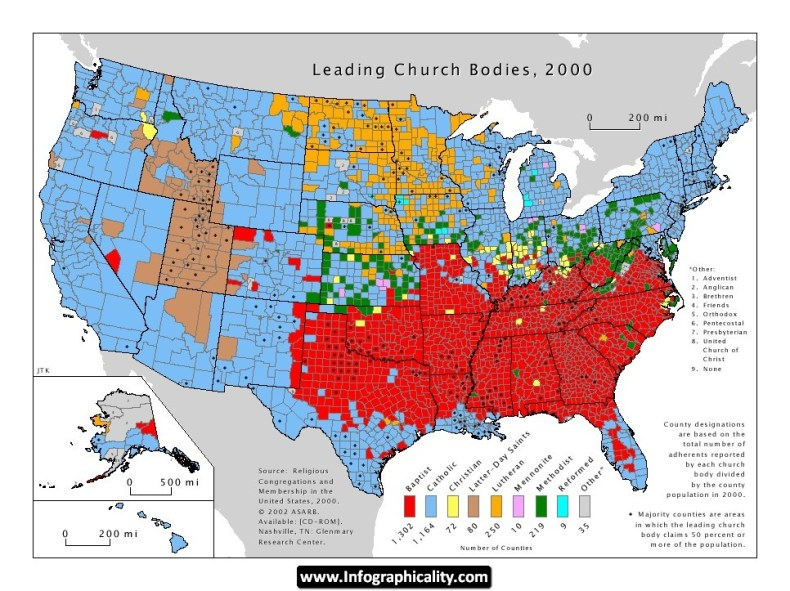 28_US Religion by County
