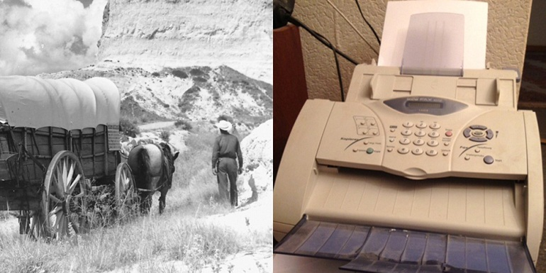 The first fax machine was developed by Alexander Bain in 1843, meanwhile The Great Migration began across America.