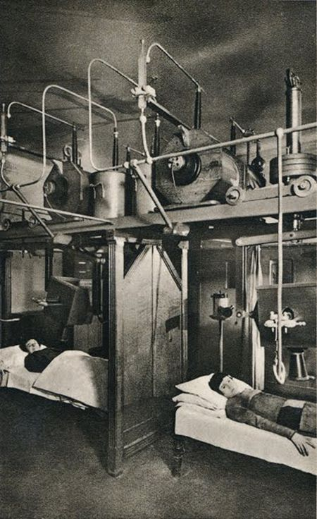These are female patients being treated with Radium therapy