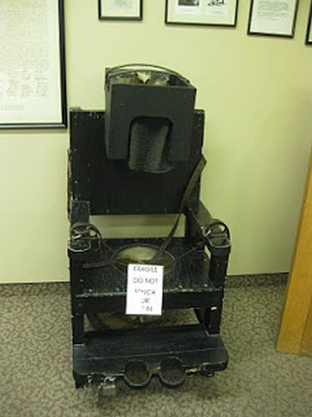 This chair was used to calm down irrational patients