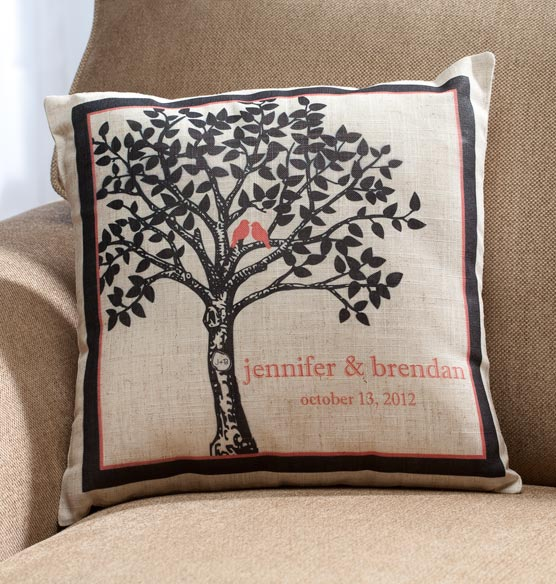 Happily Ever After Pillow Personalized Wedding Pillow