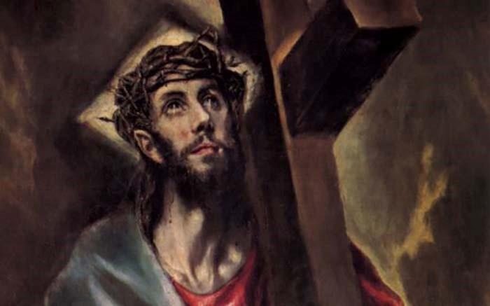 """Detalle """"Jesús carga con la cruz"""". El Greco"""