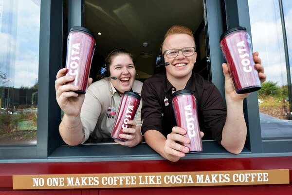 sofaworks barrow belgian linen sofa drive through costa coffee opens in cannock express star at the window are assistant manager charlotte pegg and joseph