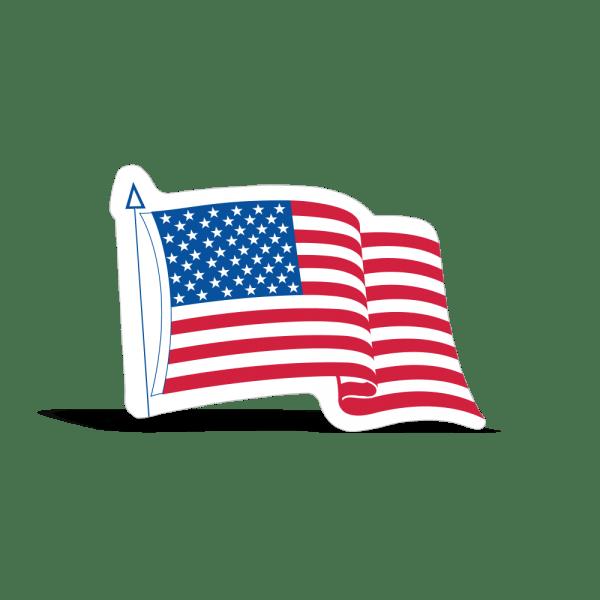 die cut waving american
