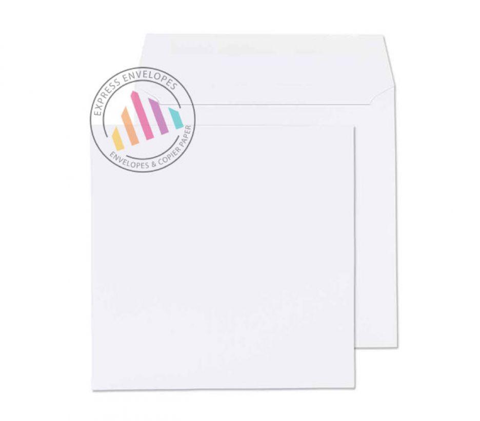 300mm Square White Envelopes 100gsm Gummed Wallet