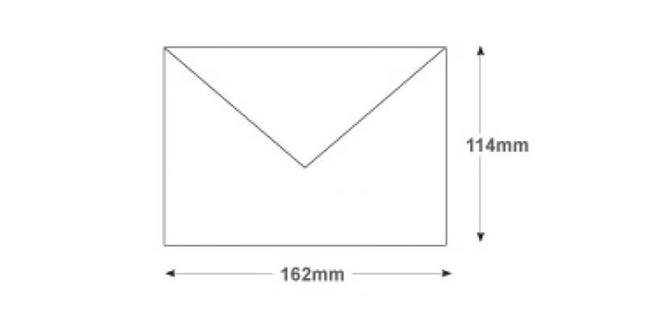 C6 White Invitation Envelopes 100gsm Gummed Banker