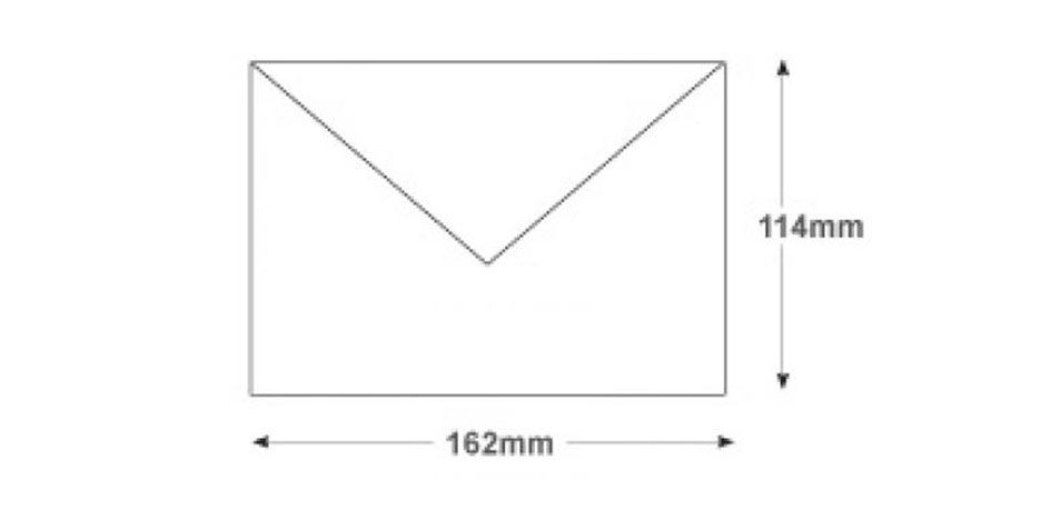 C6 White Invitation Envelopes 90gsm Gummed Banker