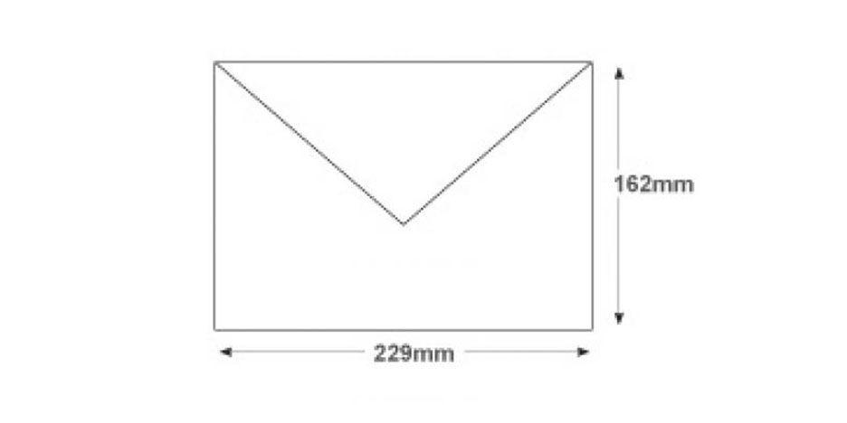 C5 White Invitation Envelopes 120gsm Gummed Banker