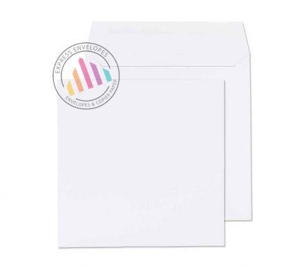 190mm Square White Envelopes 100gsm Gummed Wallet