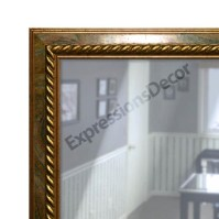 Custom Multi-Color Swirl Beveled Wall Mirror, Mantle ...