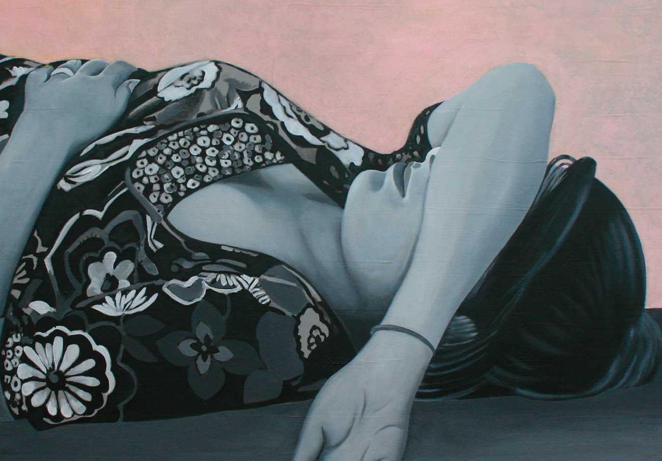 """Peinture de Catherine Feff, exposition : """"Tu ne vois pas que la vie est rose"""""""