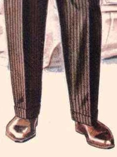 revers pantalon tailleur
