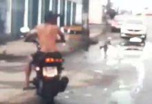 Sem capacete o mecânico tentou fugir dos agentes da PRF