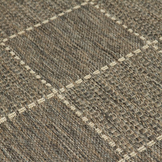 Checked Flatweave Rugs And Hall Runners In Grey Free Delivery