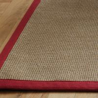 Natural Sisal Rugs Natural Flooring Rugs With Red Border ...