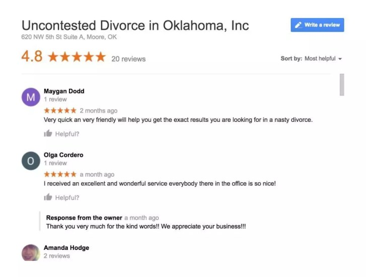 Express Documents and Mediation Reviews on Google