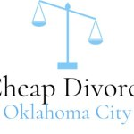 Cheap Divorce Oklahoma City with scales of justice