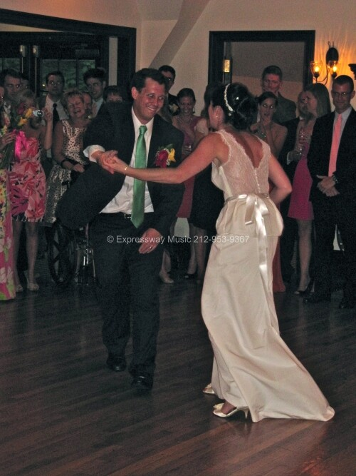 Bride and Groom first dance in Greenwich CT