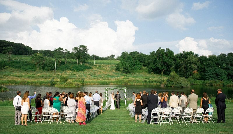 Millbrook Winery outdoor Wedding Ceremony