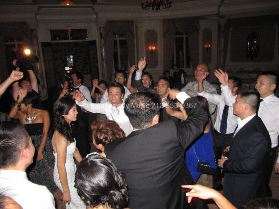 Wedding Guests singing and dancing
