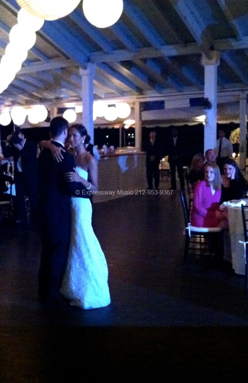 First Dance at Larchmont Yacht Club with DJ
