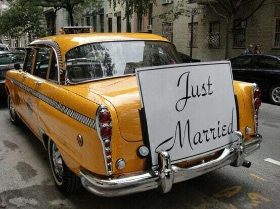 cab limo for bride and groom