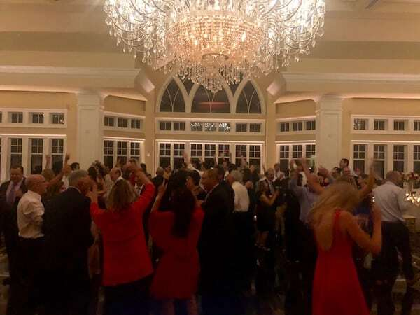 full dance floor at Le chateau wedding in South Salem ny