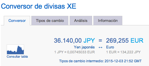 conversor yenes euros