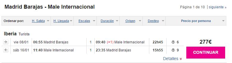 vuelos baratos Madrid Maldivas