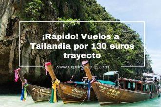tailandia tarifa error vuelos 130 euros