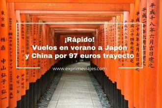 tarifa error vuelos verano japón china 97 euros
