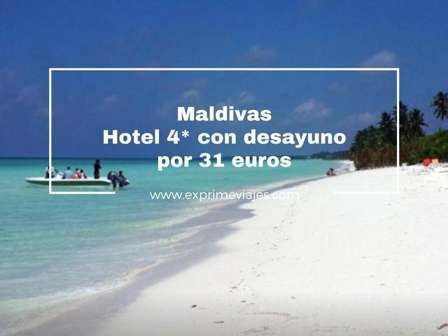 HOTEL 4* EN MALDIVAS CON DESAYUNO POR 31EUROS