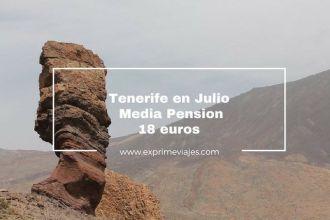 Tenerife media pension julio 19 euros