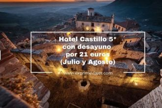 castillo 5 estrellas con desayuno italia julio agosto 21 euros