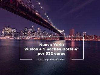 nueva york vuelos hotel 4* 5 noches 532 euros
