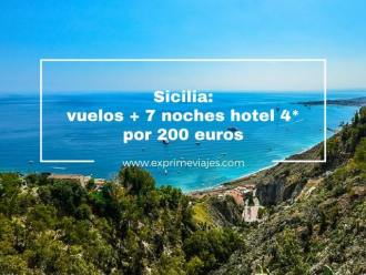 sicilia vuelos +7 noches hotel 4* 200 euros