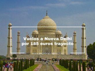 vuelos nueva delhi 185 euros trayecto