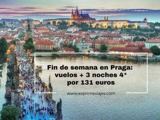 praga fin de semana vuelos 3 noches 4* 131 euros