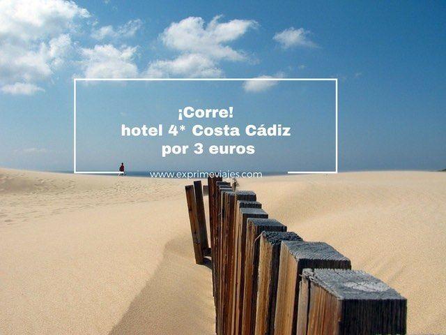 hotel 4* costa cadiz por 3 euros