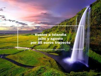 islandia vuelos julio agosto 85 euros trayecto
