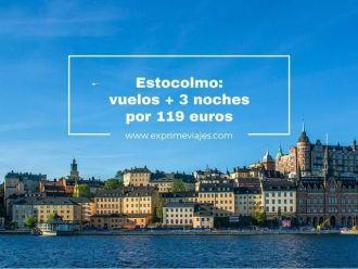 estocolmo vuelos + 3 noches por 119 euros