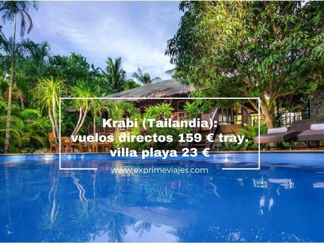 krabi tailandia vuelos directos 159 euros