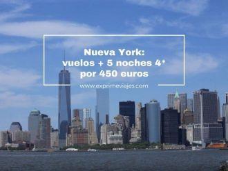 nueva york vuelos + 5 noches 4* por 450 euros