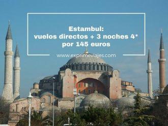 estambul vuelos directos + 3 noches 4* por 145 euros