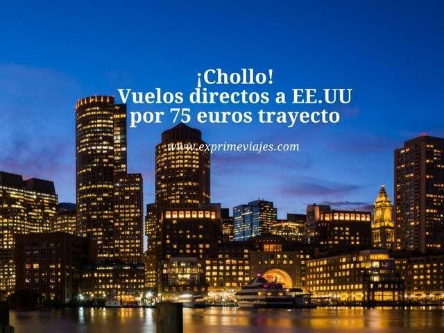 ¡Chollo! vuelos directos a estados unidos por 75 euros trayecto