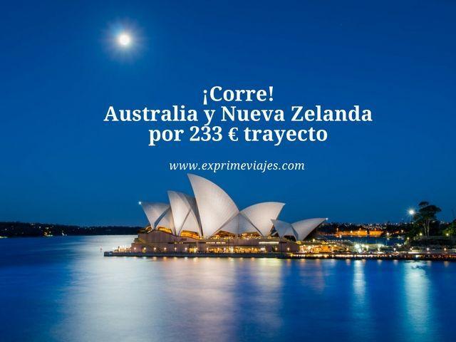 ¡CORRE! VUELOS A AUSTRALIA Y NUEVA ZELANDA POR 223EUROS TRAYECTO