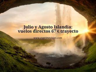 islandia julio agosto vuelos directos 67 euros trayecto