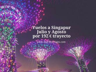 singapur vuelos julio agosto 192 euros trayecto