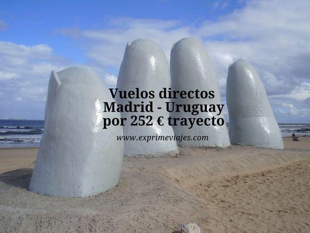 vuelos directos madrid uruguay 252 euros trayecto
