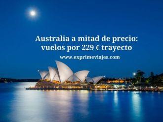 australia mita de precio vuelos 229 euros